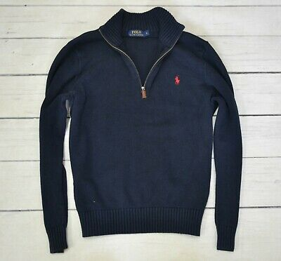 POLO by RALPH LAUREN Mens Jumper Half Zip Casual Knitted Cardigan Size Large