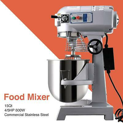 15Qt Electric Food Stand Mixer Dough Mixer restaurants Commercial multi-function
