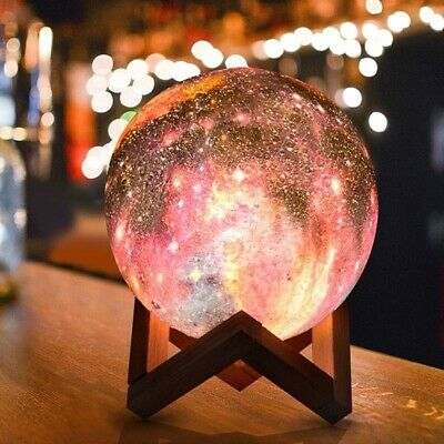 Moonlight 3D Printing Moon Lamp USB LED Night Lunar Light Touch Color Home Decor