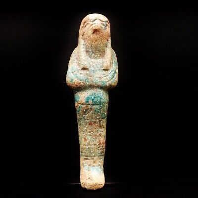 Fine Antique Egyptian Faience Ushabti (Shabti) Statue Figure