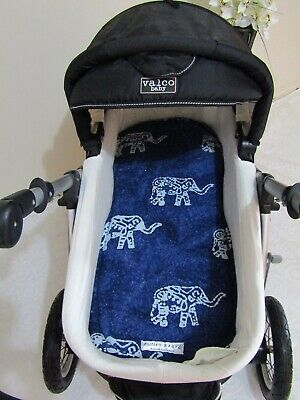 Pram bassinet liner-Elephants-Fits all pram bassinets
