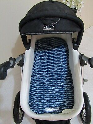 Pram bassinet liner-School of fish-Fits all pram bassinets