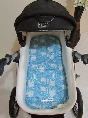 Pram bassinet liner-Blue nautical-Fits all pram bassinets