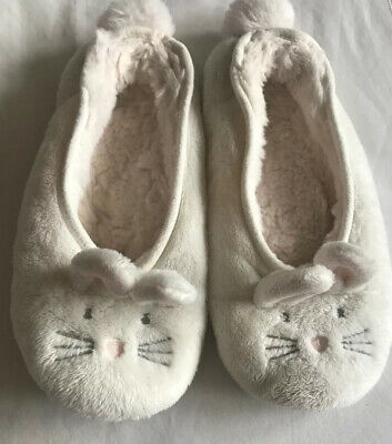 The Little White Company Bunny Slippers Girls Size 2