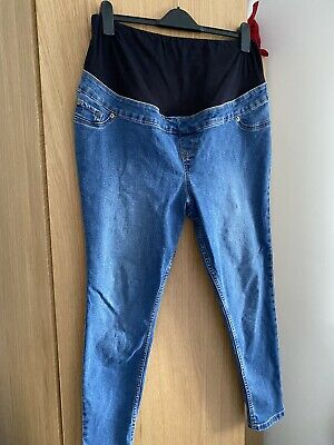 Ladies New Look Maternity Emilee Over Bump Jeggings Jeans Size 14
