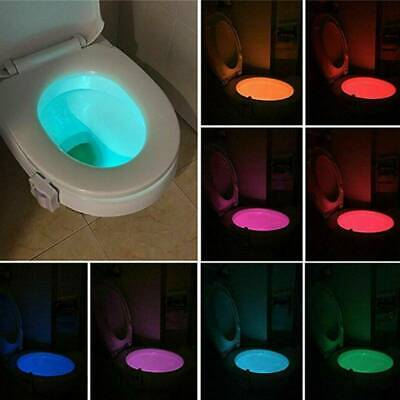 Bowl Bathroom Toilet Night LED 8 Color Lamp Sensor Lights Activated Light caHot