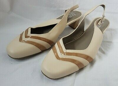 HOTTER NOELLA BEIGE LEATHER MARY JANE SHOES LAST TWO PAIRS BNIB