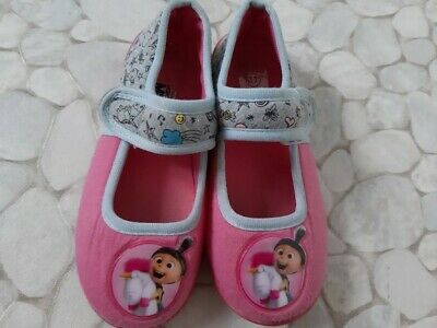 Girls Despicable Me 3 Pink Unicorn slippers size 11