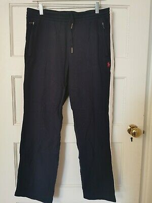 Polo Ralph Lauren Mens Used Genuine Navy blue and white Joggers Jogging Bottoms