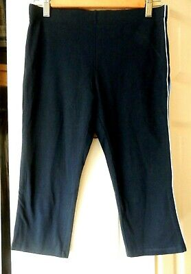 Marks and spencer 3/4 length sport leggings Size 12 Navy