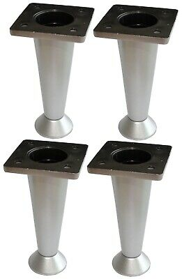 4x Patas pies ajustables regulables para muebles /Ø33mm plata AERZETIX Altura: 100mm.