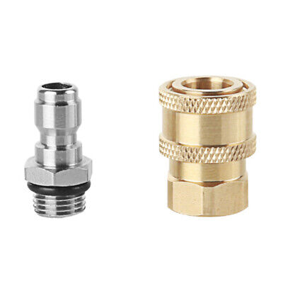 Pressure Washer Gun 1/4 Female & Male Quick Release Connector Nozzle Adapter