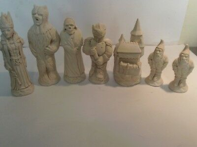 Witch Queen Fantasy chess set latex moulds