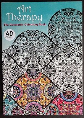 Adult Colouring Book Creative Geometric Patterns .Art Therapy Colouring Book .