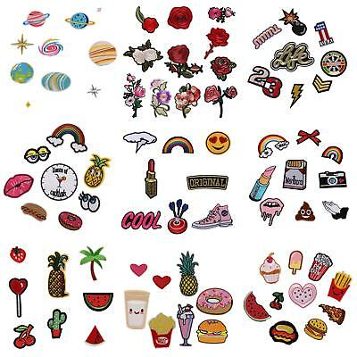 Qu_ KM_ HK- Lot Style Embroidery Floral Sew Iron On Patch Hat Jeans DIY Applique