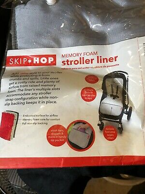 Skip Hop On-The-Go Cool Touch Stroller Liner - Grey Feather