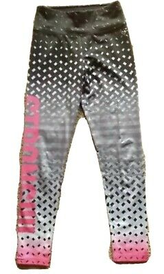 Justice Girls 12 Strong Pink Black Gray Leggings Athletic Wear Dance Gymnastics