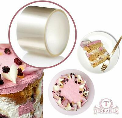Mousse Cake Collar for Chocolate Mousse Baking Vindar Clear Acetate Strips Transparent Acetate Roll Cake Decorating Cake Collars 12cm x 10m