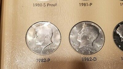 Complete Set 80 Kennedy Half Dollars PDS/Silver Proofs 1964-1992 in Dansco Album
