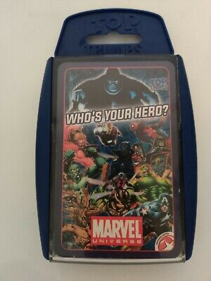 MARVEL UNIVERSE Cards games TOP TRUMPS WHO'S YOUR HERO?