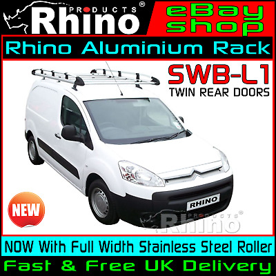 Citroen Berlingo Roof Rack With Ladder Roller Rhino Aluminium SWB-L1 2008-2018