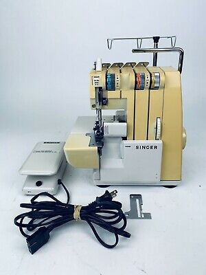 Vintage Singer Sewing Machine Overlock  Model 14U52A With Foot Pedal