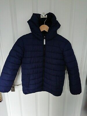 Boys BLUE Zoo at Debenhams Quilted Winter HoodedCoat Navy Blue ~ Age 9-10 Years