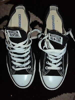 black converse all star plimsoles trainers 9s great condition