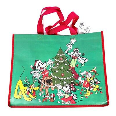 Disney Parks Happy Holidays Christmas Tote Reusable Gift Bag
