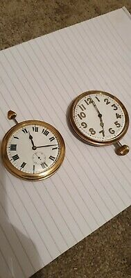 Antique Travel Clock/goliath watch job lot.Military style travel clock job lot
