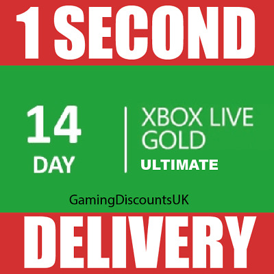 14 DAYS XBOX LIVE GOLD MEMBERSHIP ULTIMATE PASS - Instant Delivery, Xbox One 360