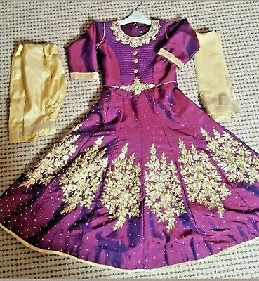 NEW Girls Indian Pakistani Anarkali Churidaar Salwar Kameez Lengha Sari Size 30