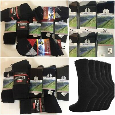 12,24Pairs Men Boys Adults Thick Winter Warm Cotton Thermal Socks JOB LOT,UK6-11