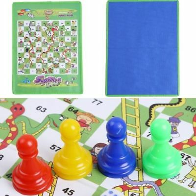 Snake Ladder Dice Children Baby Folded Flying Chess Ludo Traditional Games Funny