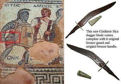 Ancient Roman Gladiator Sica artifact dagger weapon Colosseum short curved sword