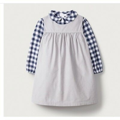 The Little White Company Cord Pinafore And Blouse Set Age 5-6 BNWT