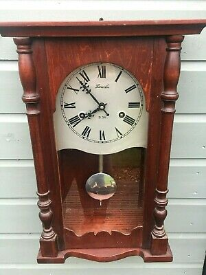 Vintage Lincoln 31 Day Striking Wall Clock W/O
