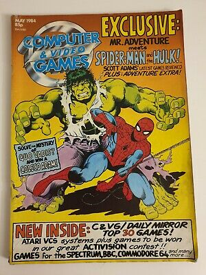 Computer And Video Games C&Vg Magazine Retro 80S May 1984 Hulk Spiderman Cover