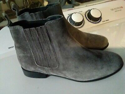 """Grey Suede Ankle Boots by """"Accessorize"""" size 5  Good Condition"""