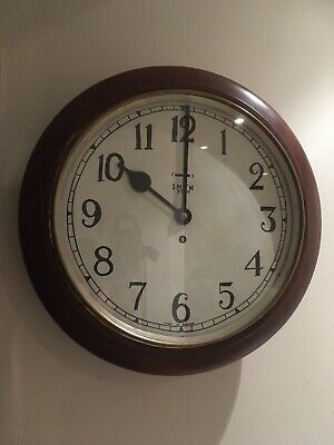 "Smiths 15"" Railway Station/School Round Wall Clock"