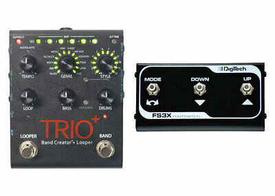 DigiTech Trio+ Band Creator + Looper with FS3X Foot Switch Demo