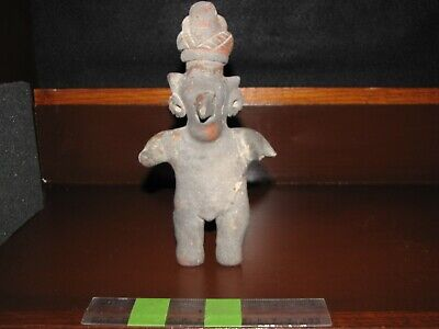 Pre Columbian, Pottery, West Mexican, Jalisco, Tall Standing Figure, -200 +200