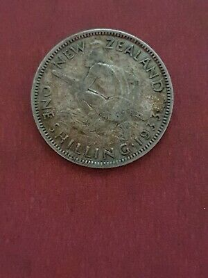 1933  New Zealand Silver  Shilling