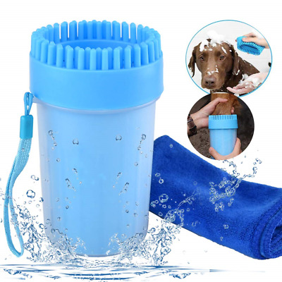 Dog Paw Cleaner Medium Portable Pet Cleaning Brush Cup Dog Foot Washer Massager