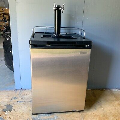 2 Tap Beverage Kegerator - Insignia Stainless Steel Front For Two 5 Gal Kegs