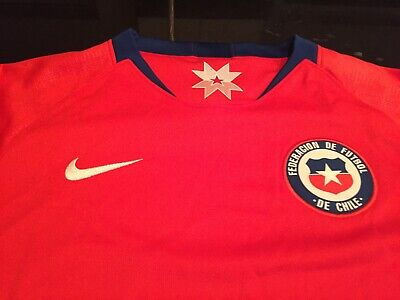BOYS/GIRLS YOUTH NIKE DRI FIT CHILE NATIONA TEAM  Soccer Jersey L LARGE NWT $75