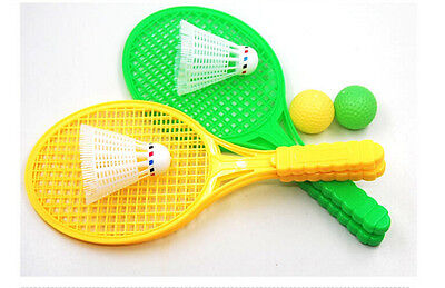 1pair Children Badminton Tennis Racket Baby Sports Bed Educational Toy VQ