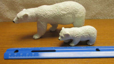 Plastic Toy Polar Bear and Cub