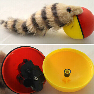 Dog/Cat/Weasel/Beaver Motorized Funny Rolling Ball Pet Appears Moving Toy 2019