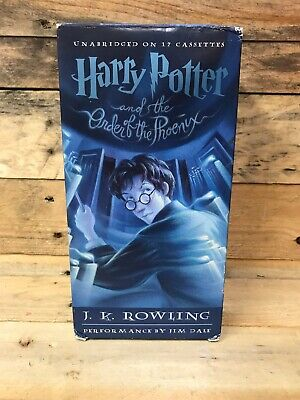 Harry Potter And The Order of the Phoenix JK Rowling Audiobook 17 Cassette Tapes